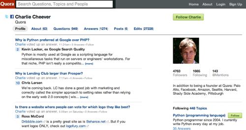 Quora - Profile